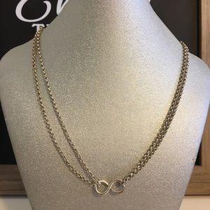 925 silver infinity eternity necklace pendant